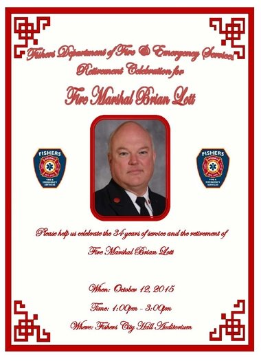 Retirement Celebration for Fire Marshal Brian Lott