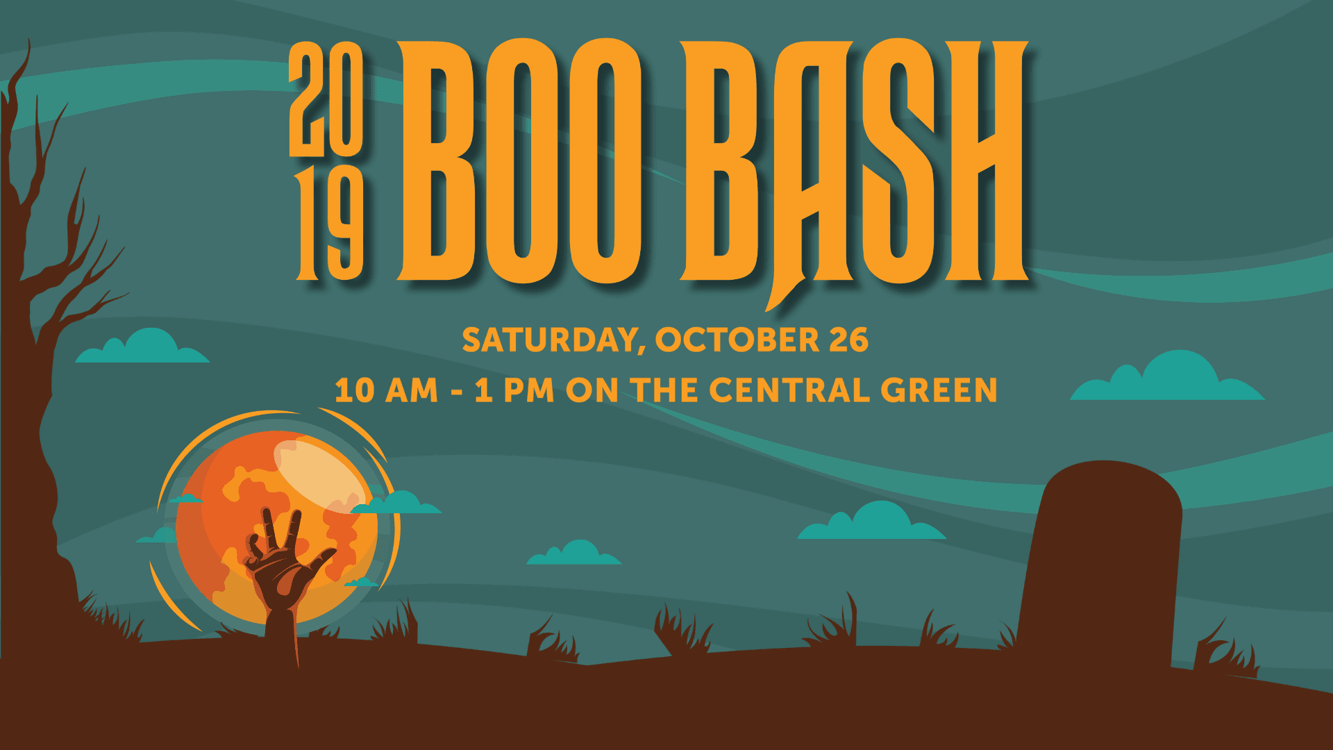 Boo Bash, saturday, october 26, 10 am - 1 pm on the central green