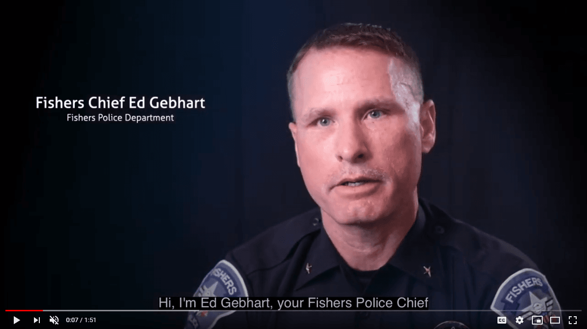 Fishers Chief Ed Gebhart, Fishers Police Dept.