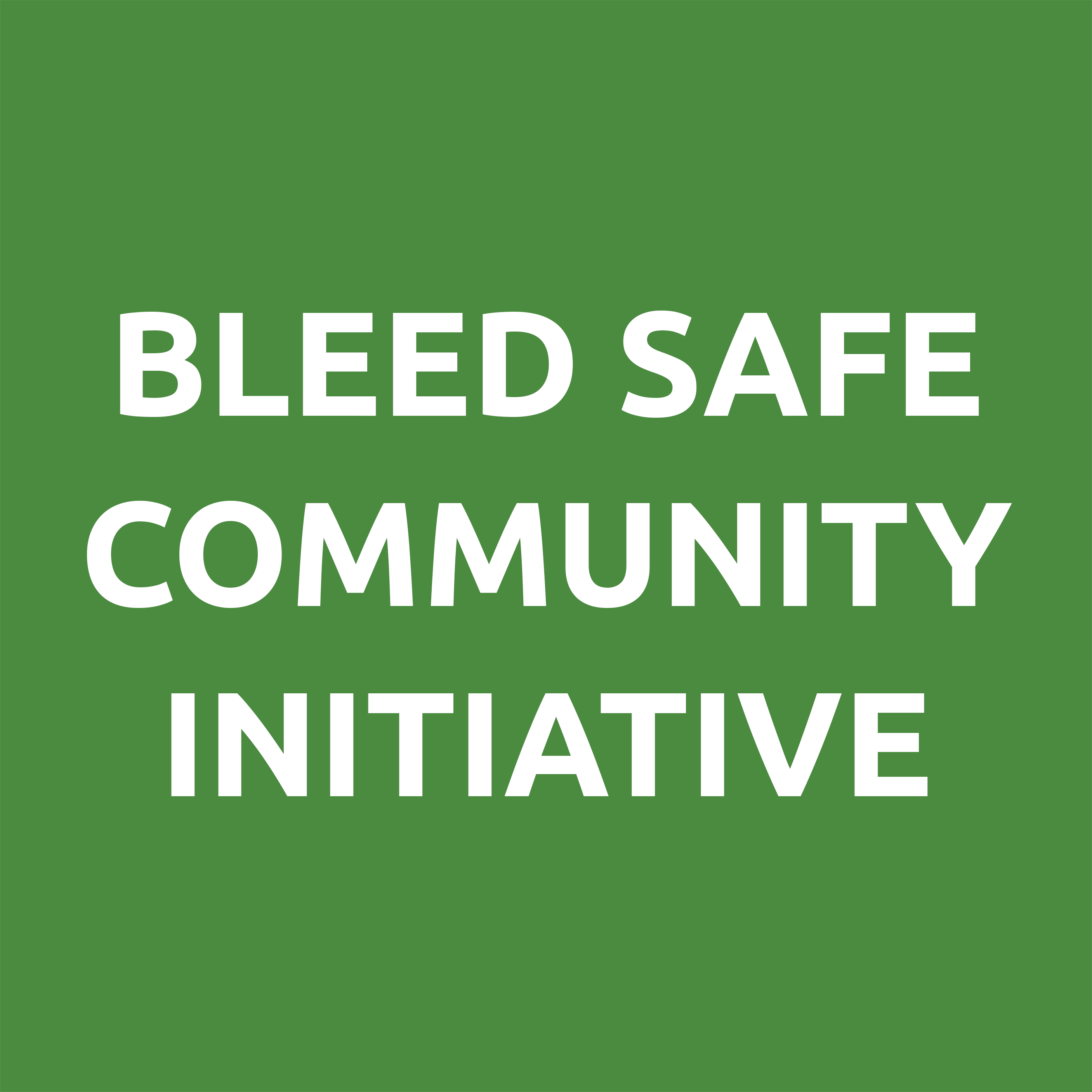 bleed safe community initiative