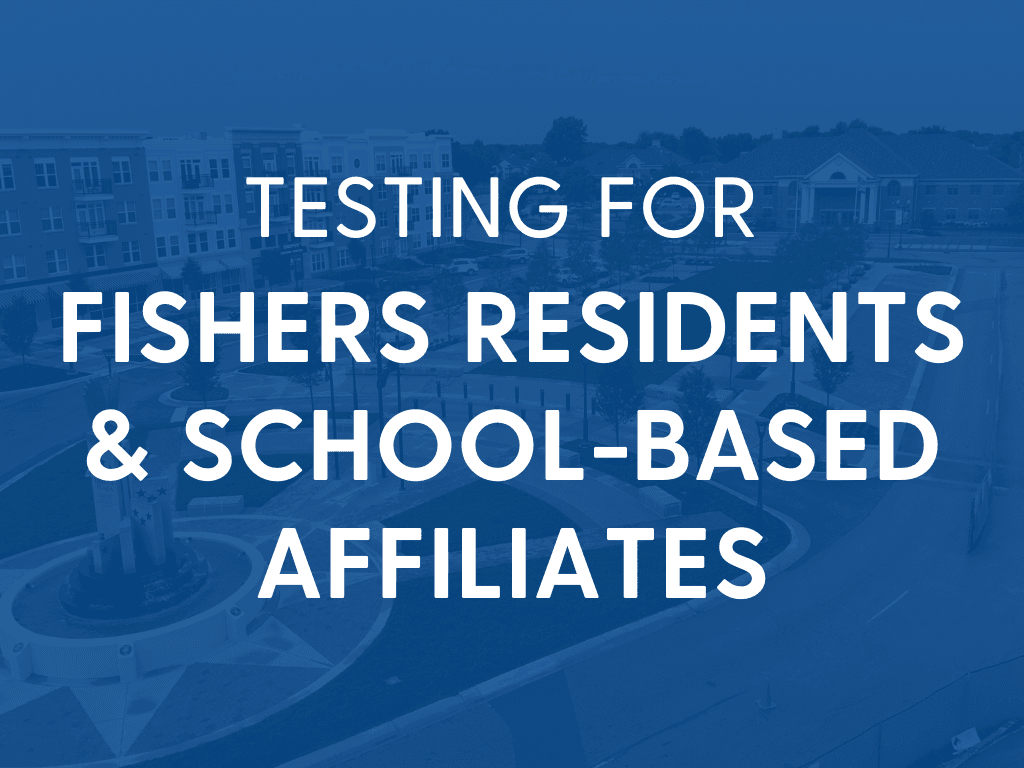 testing for fishers residents