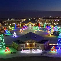 holiday light display