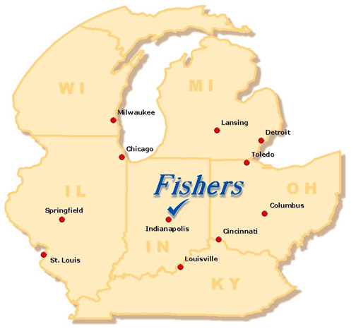 Fishers, Indiana Map