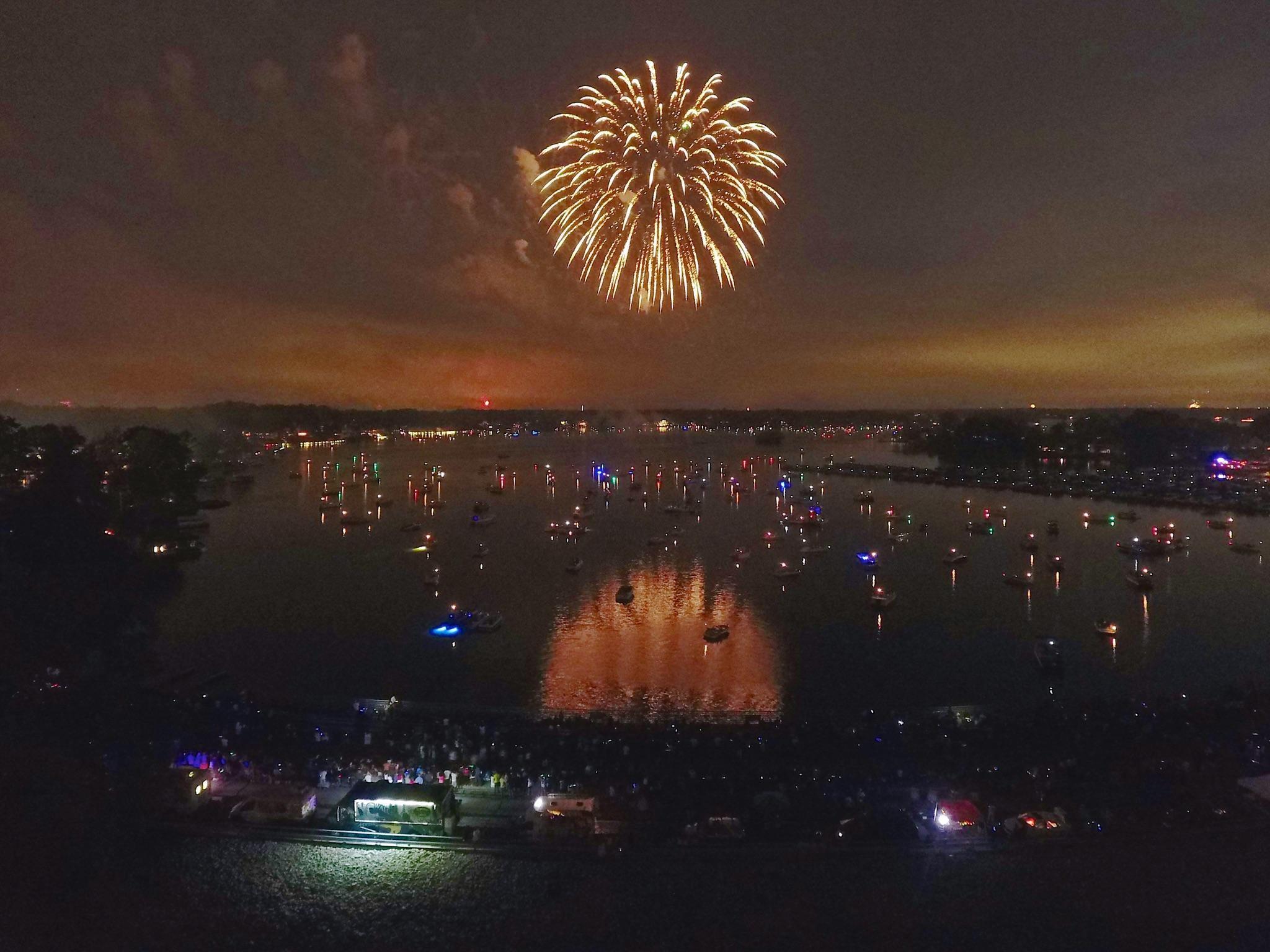 Fireworks over Geist