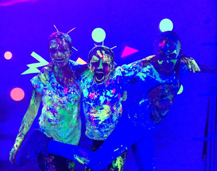 kids at glow in the park